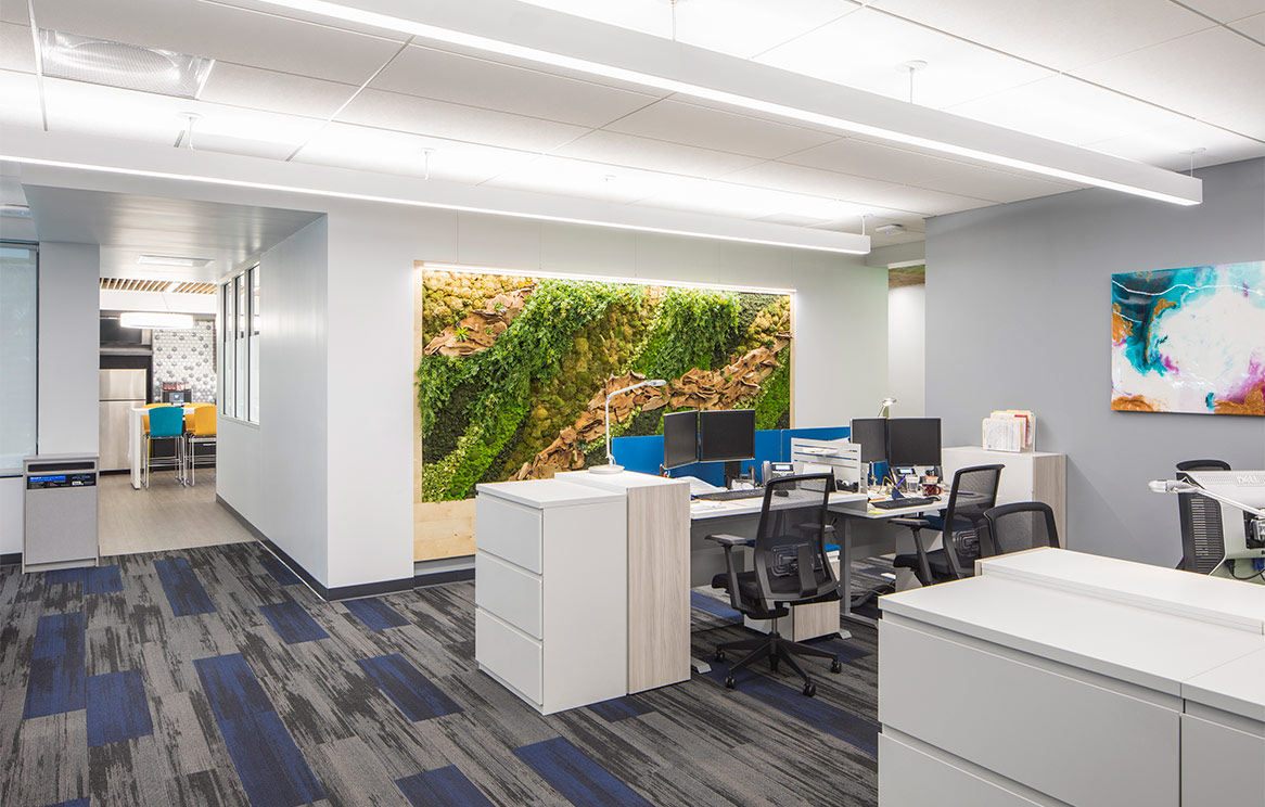 Navigate BioPharma Office Space with Living Wall